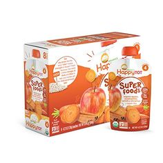 Happy Tot Organic Super Foods Apples Sweet Potatoes Carrots & Cinnamon  Super Chia 4.22 Ounce (Pack of 16) Reviews