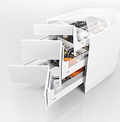 TOUCH this image: blum Antaro corner drawer Solutions by Cabinets Online