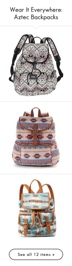 """""""Wear It Everywhere: Aztec Backpacks"""" by polyvore-editorial ❤ liked on Polyvore featuring aztecbackpack, bags, backpacks, accessories, multi aztec, preowned bags, pink aztec backpack, pre owned bags, plastic bags and pink plastic bags"""