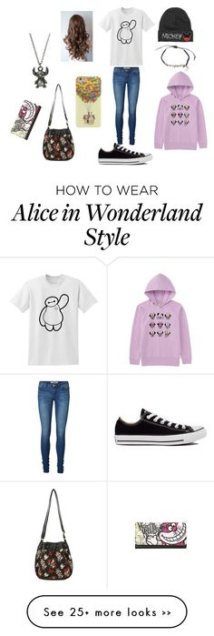 """Disney fan"" by disneydabomb on Polyvore featuring Disney, Vero Moda, Converse and Uniqlo"