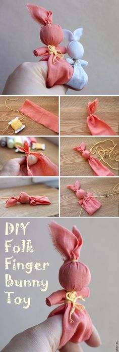 "Children's folk toy ""Bunny on the finger"". DIY Tutorial  http://www.handmadiya.com/2017/04/great-diy-folk-finger-bunny-toy.html"