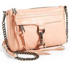 Peach Rebecca Minkoff Peachy pink mini Mac Rebecca Minkoff Bags Crossbody Bags
