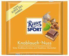 Knoblauch-Nuss. Feine Knoblauch-Creme und Haselnuss-Stückchen