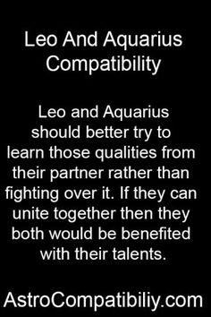 Leo and Aquarius should better.... | AstroCompatibility.com
