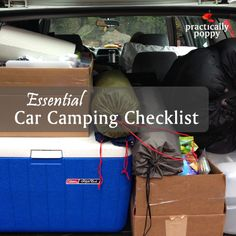 Free printable PDF with everything you need for car camping this summer!