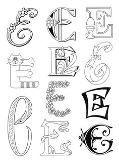 "Designs with the letter ""E"" for Ellie and Elizabeth...."