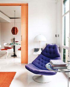 Apartamento reformado pelos designers de interiores Fran Ugarte e Iñaki Cuesta em Bilbao, Espanha.