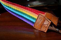 Rainbow Camera Strap. $22.00, via Etsy.