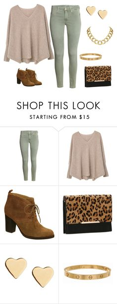 """Leopard Print"" by style-by-shannon-leeper on Polyvore featuring MANGO, Nicole, Kelly & Katie, Lipsy, Cartier and House of Harlow 1960"