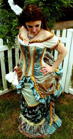 Neo-Victorian dress from MJVOCouture  on Etsy. http://www.etsy.com/listing/73572767/1880s-wild-west-victorian-dress-and?ref=sr_gallery_14&sref=&ga_search_query=corset&ga_view_type=gallery&ga_ship_to=&ga_min=0&ga_max=0&ga_page=2&ga_search_type=handmade&ga_facet=handmade