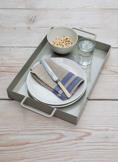 Crafted in powder coated steel, this tray makes for easy and stylish outdoor serving