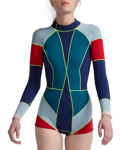 Cynthia Rowley | Red Colorblock Wetsuit | Lyst