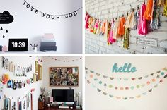 diy home office bunting