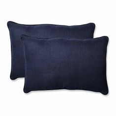 Rave Indigo Over-sized Rectangular Throw Pillow (Set of 2)