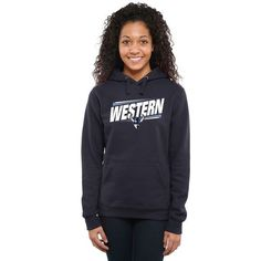 Western Washington Vikings Women's Double Bar Pullover Hoodie - Navy - $44.99