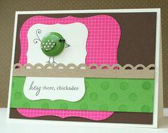 bird button card