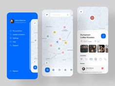 AroundMe - Location Base Service Application designed by Pouriya Rezaie for RonDesignLab. Connect with them on Dribbble; Web Design, Website Design Layout, App Ui Design, Graphic Design, Design Thinking, Location Based Service, Ui Design Mobile, Application Design, Mobile Application