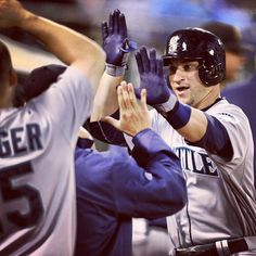 Congrats, Mike. His first career HR gave the #Mariners a 2-1 lead over the #Athletics in the seventh. 6/14/13