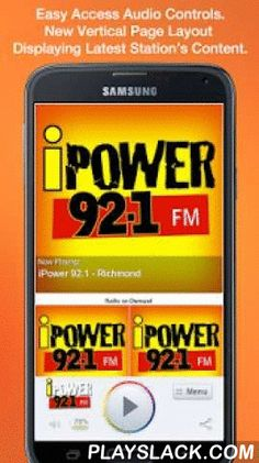 IPower 92.1 - Richmond  Android App - playslack.com , Never be without your favorite radio station. iPower 92.1 - Richmond is proud to present our OFFICIAL radio app. Listen to us at work, home or on the road. Install our app and get instant access to our unique content, features and more!- New design and interface- See current and recently played songs and up to date station and local news on a single screen- Get notifications and single click access to any station promotions or contests…
