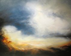 Large Abstract Oil Painting by Simon Kenny by SimonkennysPaintings