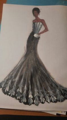 Elegant evenening dress