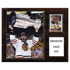 C and I Collectables NHL 15W x 12H in. Brandon Saad Chicago Blackhawks Player Plaque - 1215SAAD