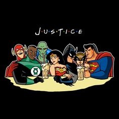 Justice League T-Shirt by Antonio Barbadifuoco aka Firebeard. Show everyone that you are a fan of Justice League with this t-shirt. Heros Comics, Dc Heroes, Wonder Woman, Justice League Unlimited, Justice League Part 2, Justice League Funny, Comic Art, Comic Books, Friends Poster