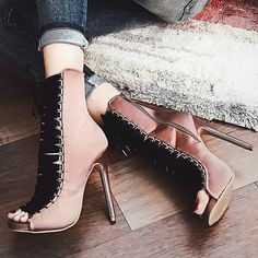 Steve Madden Satin Lace Up Booties