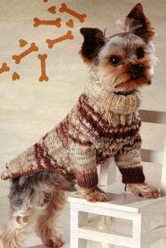свитерок с косами для собаки