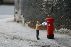 The street artist known only as Slinkachu has been abandoning little people on the streets of London since 2006.