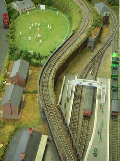 model railway village green cricket - Google Search
