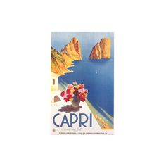 Travel Poster for Capri Wall Art Print ($18) ❤ liked on Polyvore featuring home, home decor, wall art, basketball, basketball players, c, nba, nba courts & players, pro basketball leagues and sports