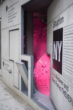 """Marc Fornes creates pink """"envelope of experiential tension"""" for Situation Room installation"""