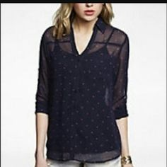 Brand new express shirt I can sell or trade but all my express portfolio shirts are brand new Express Tops Blouses