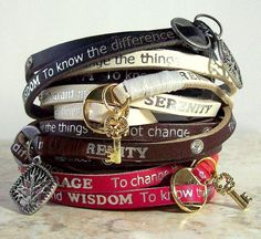 Recovery Jewelry Addiction Jewelry- I want one! Serenity Prayer Bracelet, Sobriety Gifts, Robin, Addiction Recovery, Bracelets, Jewelery, Bling, My Style, Stuff To Buy