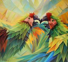 AMOR ESPINADO 130 X 140 CM. OLEO SOBRE LIENZO  #josemorenoaparicio #arte #art #morenoaparicio #oleo #oil #arte mexico #cuernavaca #artistaboliviano #bolivia #selva #amazonas #color #piezacolorida #pintura #painting #color #artecontemporaneo #contemporaryart