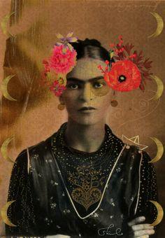 Shilo Shiv Suleman, Frida Kahlo, Art, Postcard