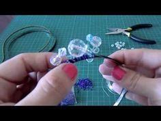 МК как сделать ободок из бусин - YouTube