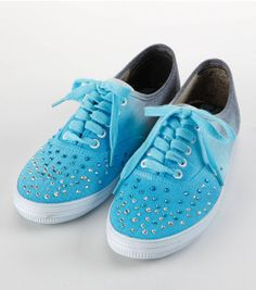 Cute #DIY Ombre Rhinestone Sneakers. Find #DIY Directions and Supplies online at Joann.com