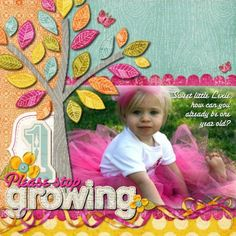 Please Stop Growing - Scrapbook.com - They grow up too fast - cute page! #scrapbooking #layouts #digital
