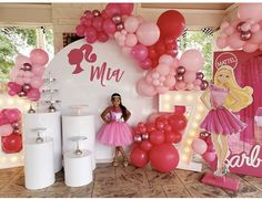 5th Birthday, Birthday Parties, Barbie Images, Ceiling Lights, Treats, Cakes, Party, Barbie Party, Anniversary Parties
