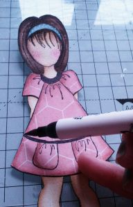 mixed media dolls stamps