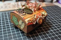 Graphic 45 Altered Box Ideas | Butterfly Kisses: Graphic 45 Steampunk Debutante Altered Box & Mini