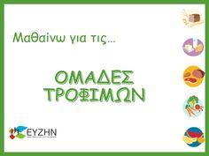 ΕΥΖΗΝ - Υλικό για Μάθημα Greek Language, Kindergarten, Presentation, Nutrition, Teacher, Activities, Learning, Health, Kids