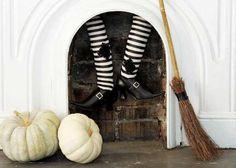 Cómo decorar una terrorífica chimenea de Halloween