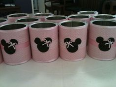 frascos decorados minnie mouse - Buscar con Google