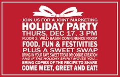 May 5: Holiday Party Email Invite