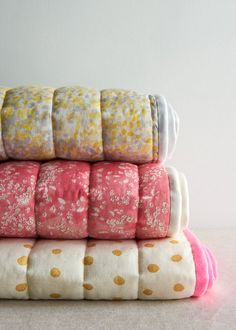 Pure + Simple Quilted Blankets. Easy to make with pre-quilted fabrics.