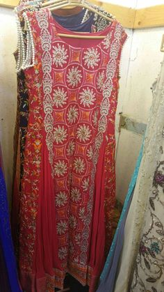 4 Piece Party Wear Gowns Fabric: Chiffon Set: Top, Bottom, Inner & Dupatta Price: Rs 4700 + Shipping Whatsapp: +91-7379262288