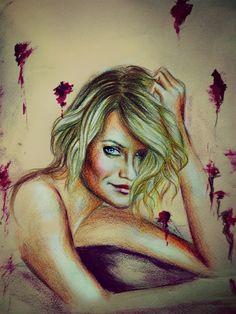 ritratto Cameron Diaz  #portrait #drawing #camerondiaz